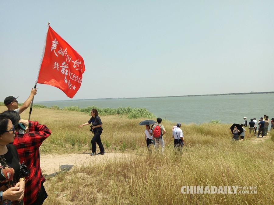 媒体团走访湖南东洞庭湖国家级自然保护区林阁老巡护监测点