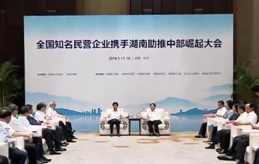 全国知名民营企业携手湖南助推中部崛起大会在长沙举行
