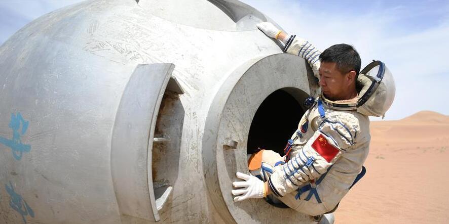 中国成功组织航天员沙漠野外生存训练