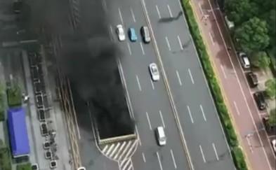 长沙营盘路隧道四车碰撞引发火灾