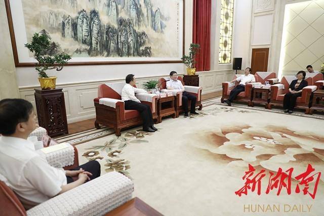 杜家毫许达哲与生态环境部部长李干杰座谈