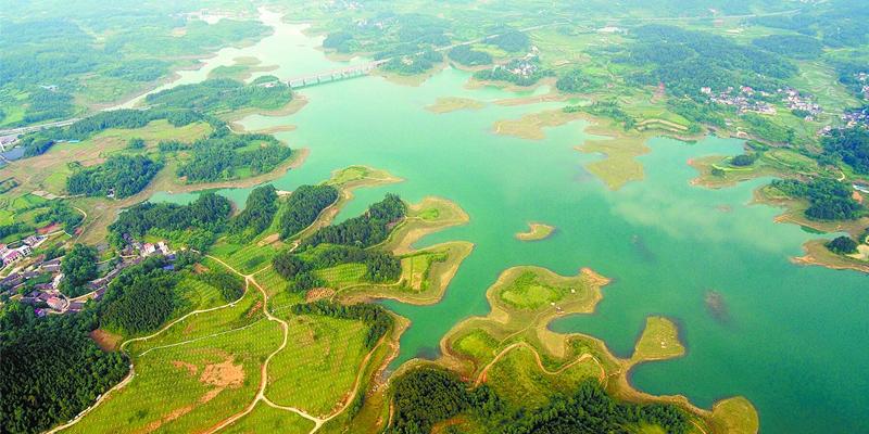 古苗河国家湿地公园紫霞湖美如画