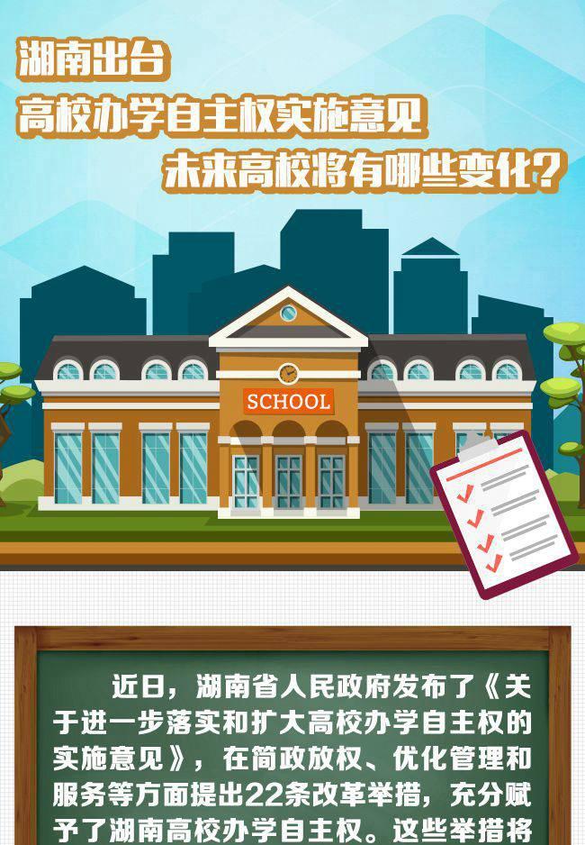 【图解】湖南高校自主办学未来将有哪些变化?