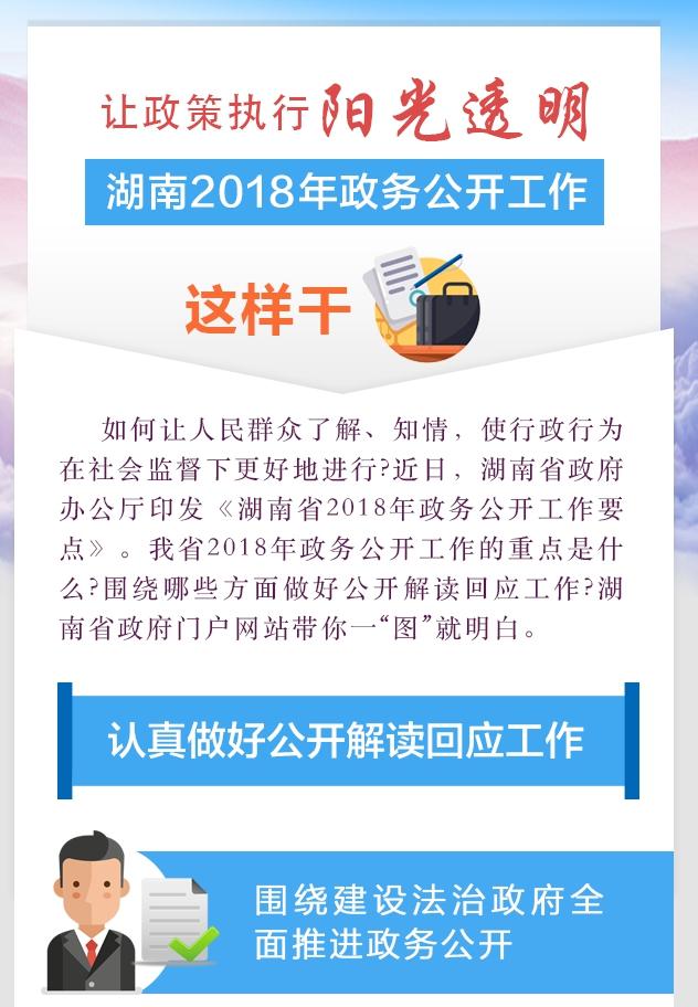 【图解】湖南2018年政务公开工作这样干