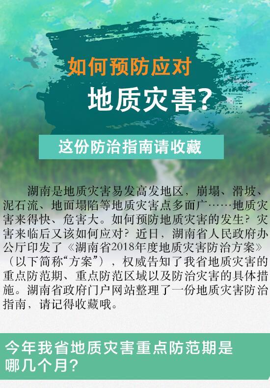【图解】如何防御应对地质灾害?这份防治指南请收藏