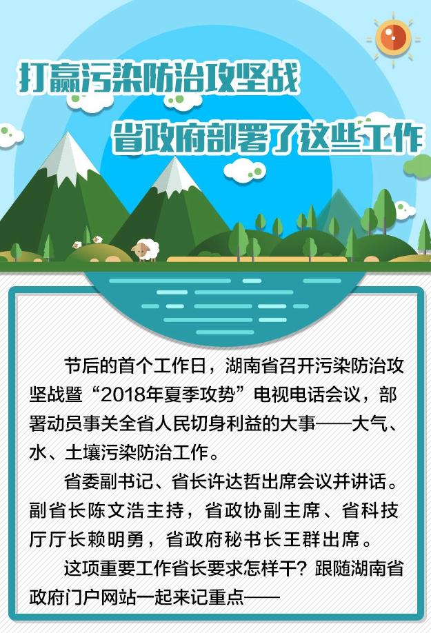 打赢污染防治攻坚战 湖南省政府部署了这些工作