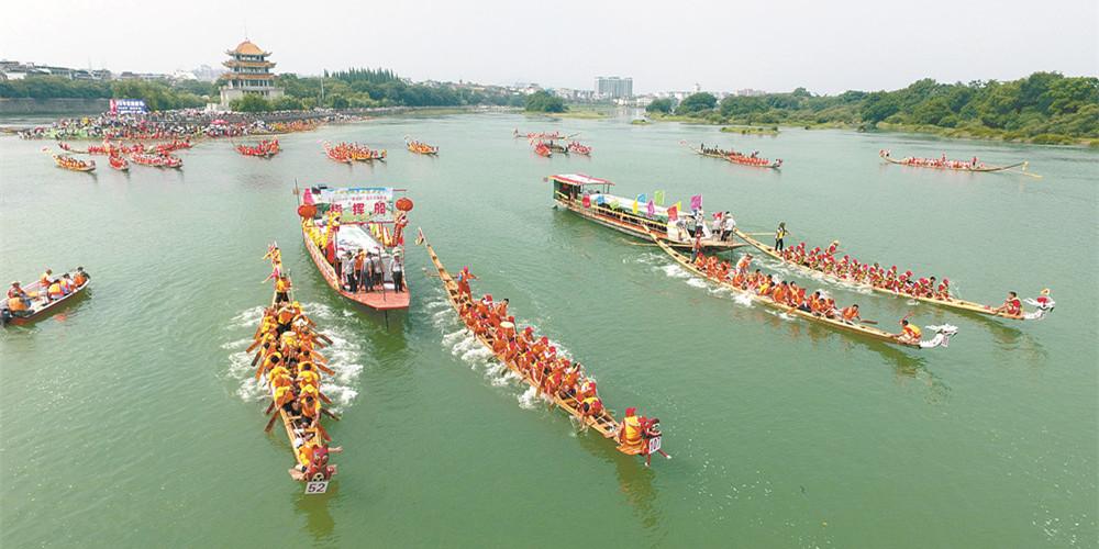 道县举行划龙船比赛
