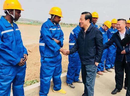 许达哲率团访问埃塞俄比亚并会见埃总理阿比•艾哈迈德
