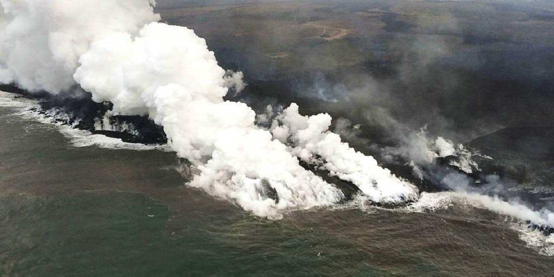 美国基拉韦厄火山持续爆发 岩浆流淌成河