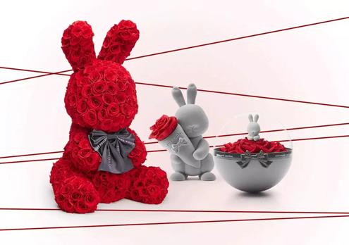 """可爱兔子设计打造浪漫宠物公仔,给爱全部的宠溺,演绎至美爱情,""""遇见你"""