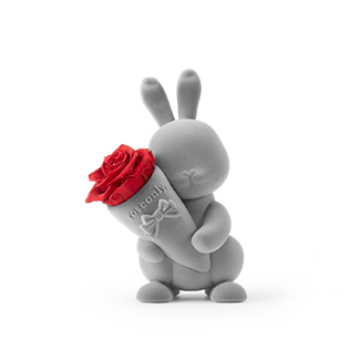 roseonly玫瑰公仔―甜心兔公仔