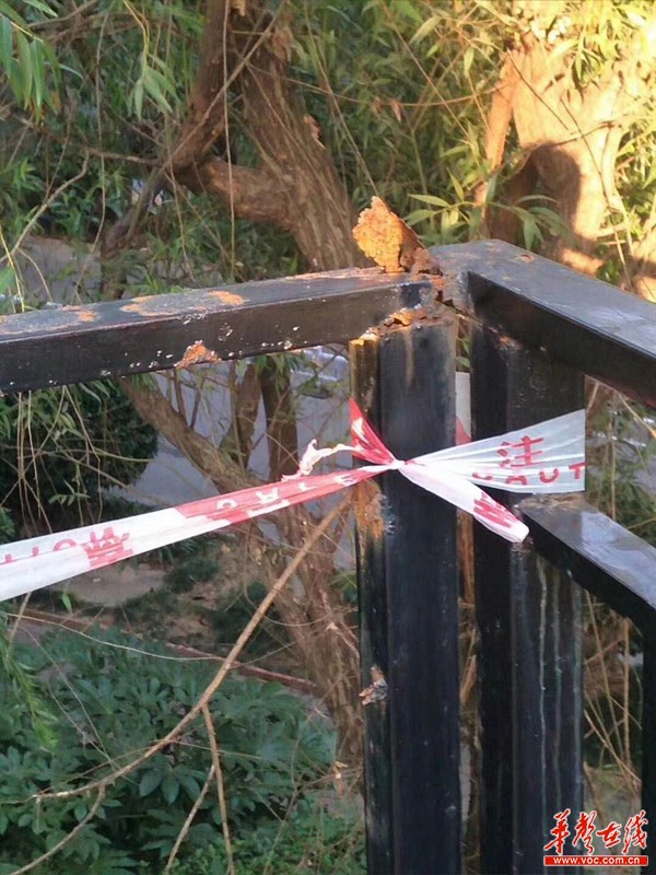 长沙一小区儿童骑车撞断失修护栏 高处跌落坠亡