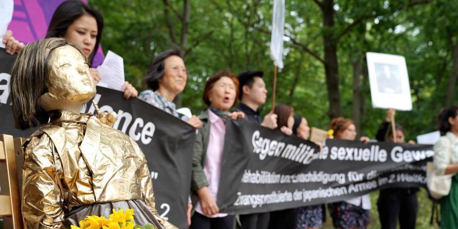 """韩日民间团体在德集会 要求日本向""""慰安妇""""道歉赔偿"""