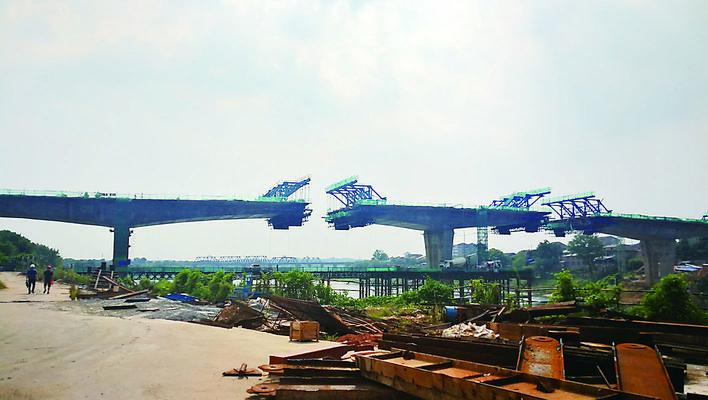 株洲:渌水二桥有望11月主跨合拢