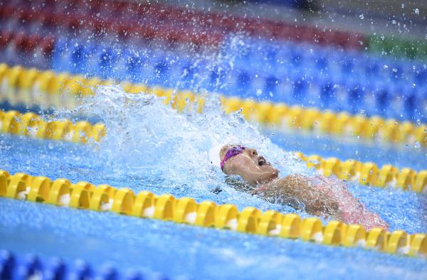 刘湘打破女子50米仰泳世界纪录