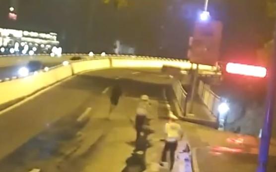 足球运动员酒驾被查撒腿就跑 结果没跑赢民警