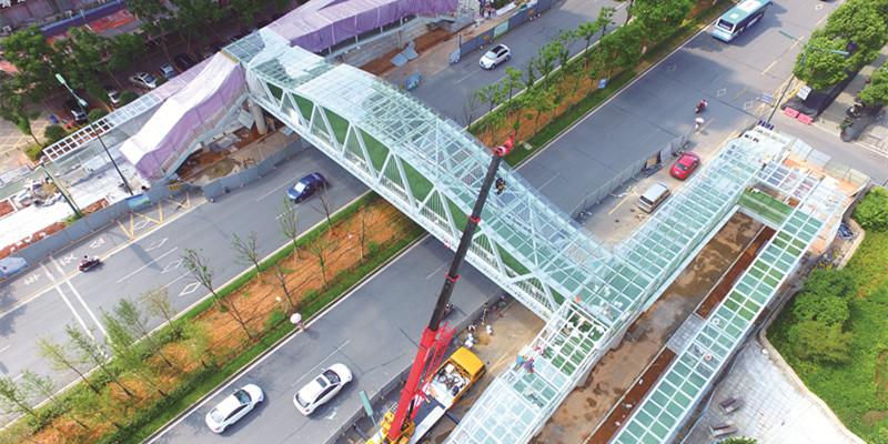 长沙县最长天桥落成