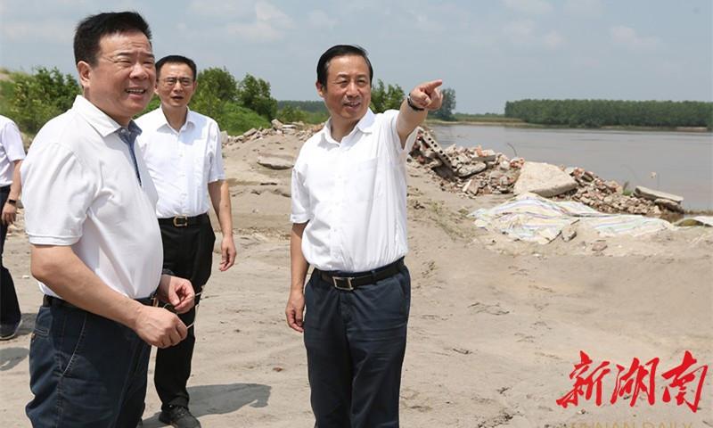 许达哲调研洞庭湖四口水系综合整治工程