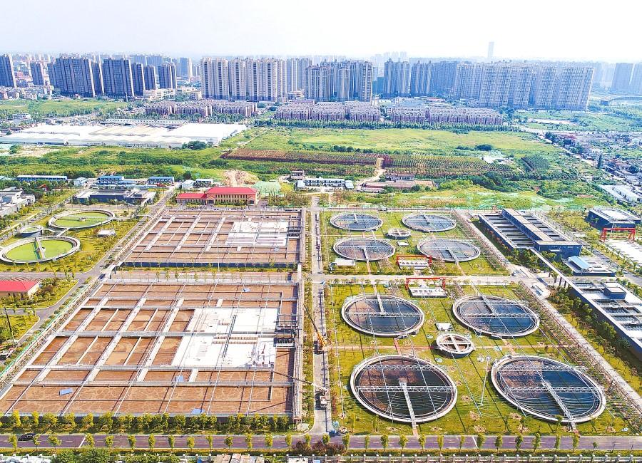 长沙首个污水处理厂光伏发电项目主体完工