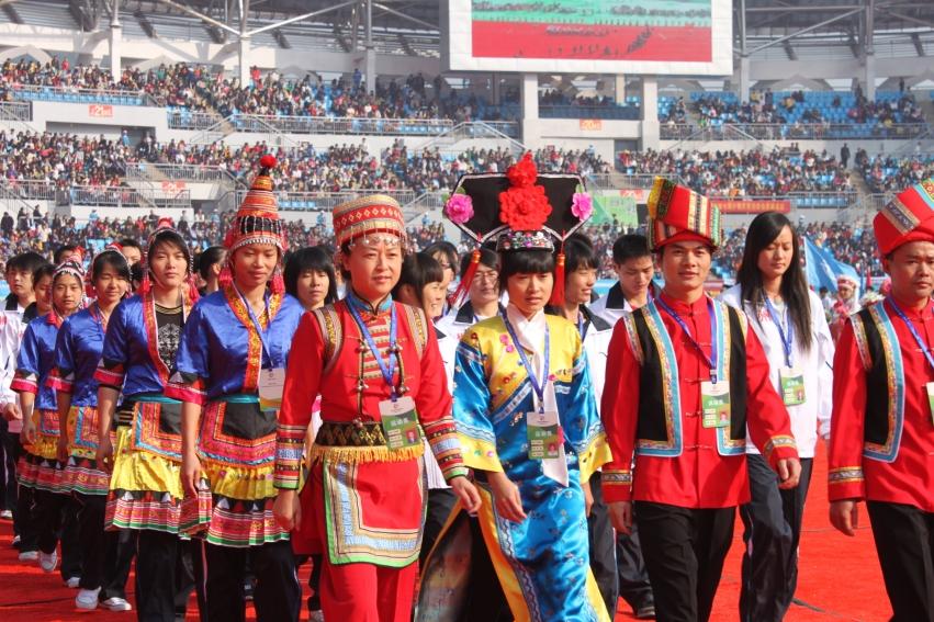 第八届省民运会开幕式