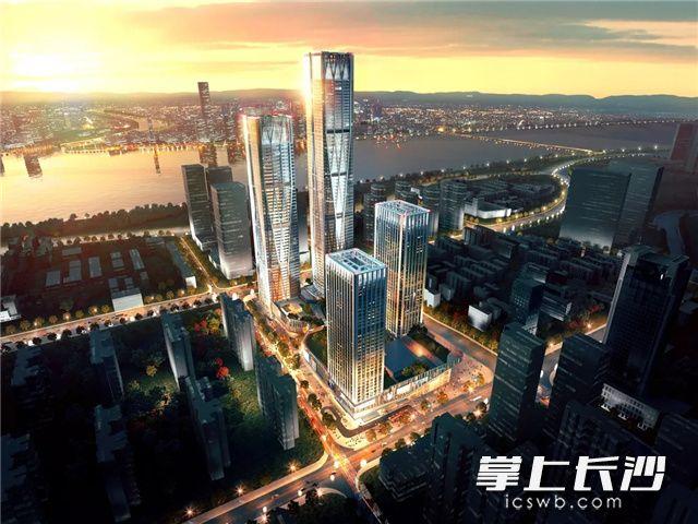 258米!长沙河西又一超高层建筑封顶 将建超五星级酒店