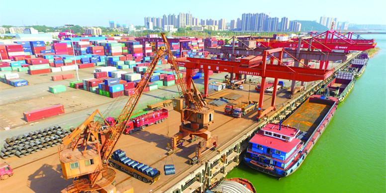 长沙新港吞吐量创新高