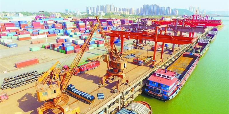 长沙新港吞吐量创历史新高