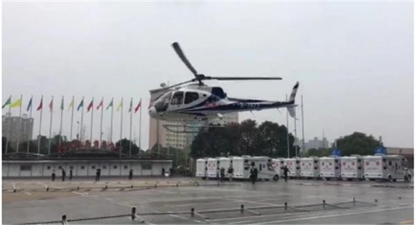 """旅博会直升机首次""""起飞"""" 360度全景俯瞰星城美景"""