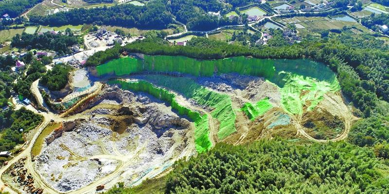 长沙县:矿山复绿