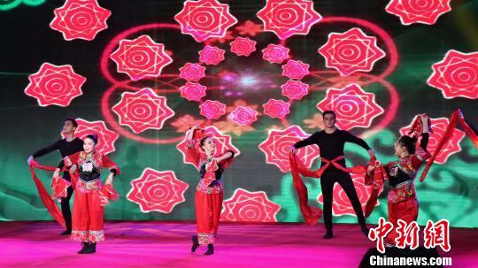 """第三届""""留动中国-在华留学生阳光运动文化之旅""""总决赛7日结束。图为闭幕式现场。 刘格菲 摄"""