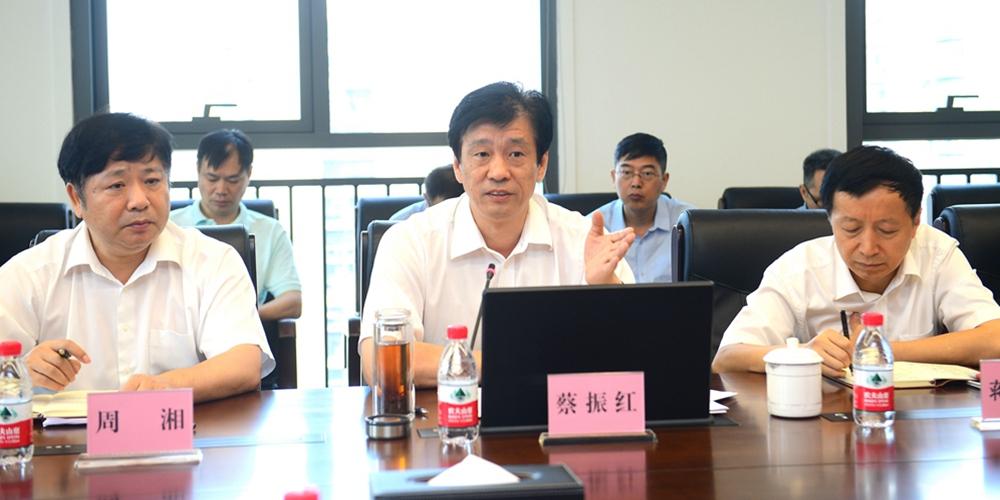 省委常委、省委宣传部部长蔡振红到湖南日报社调研