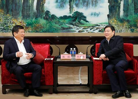 杜家毫与上海烟草集团、上海汽车集团负责人座谈