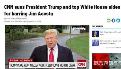 CNN一气之下把特朗普告上了法庭