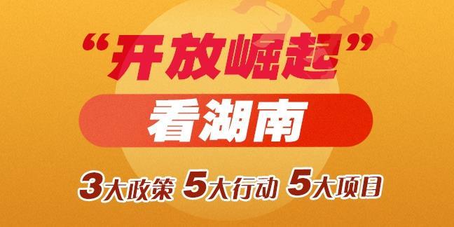 """【手机美高梅游戏网址湖南】""""开放崛起""""看湖南——战略构架基本成型"""