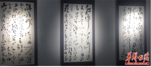 赵翼舟2018全球书法艺术巡展长沙站启幕 市民可免费参观