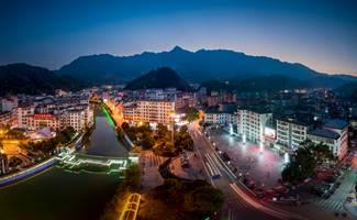 桂东县城夜景
