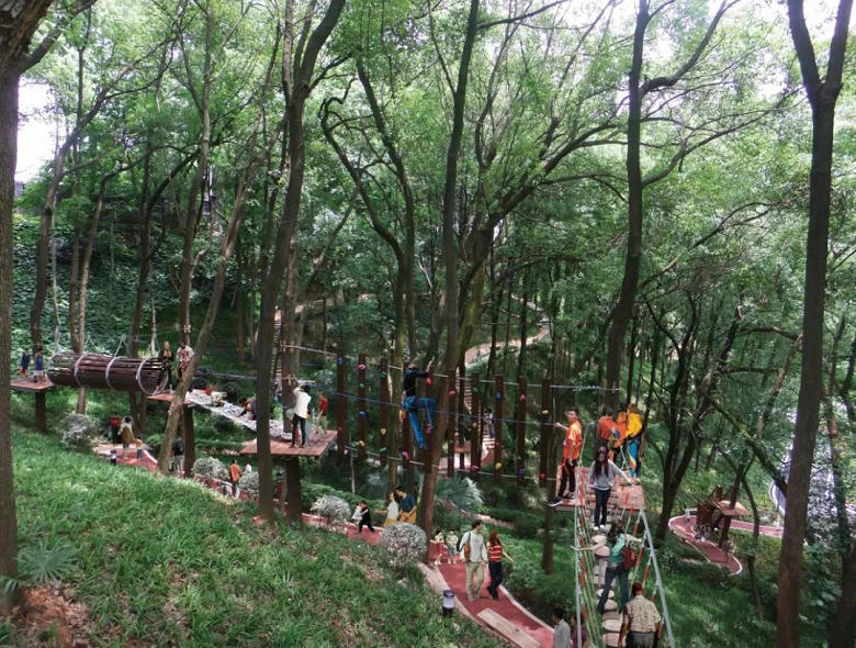 淘乐谷丛林穿越