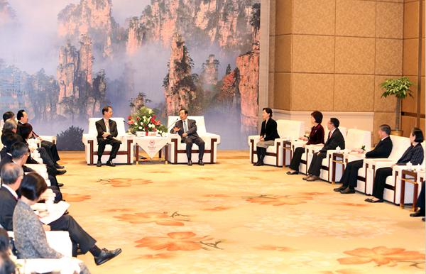香港科教代表团访湘 许达哲会见