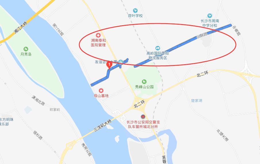 图为地图上显示的兴联路位置。