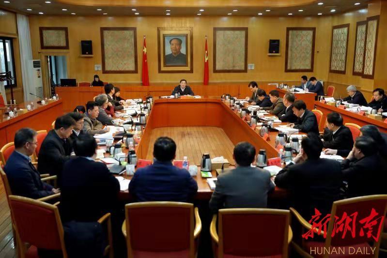 杜家毫与中央主要新闻单位驻湘机构负责人座谈