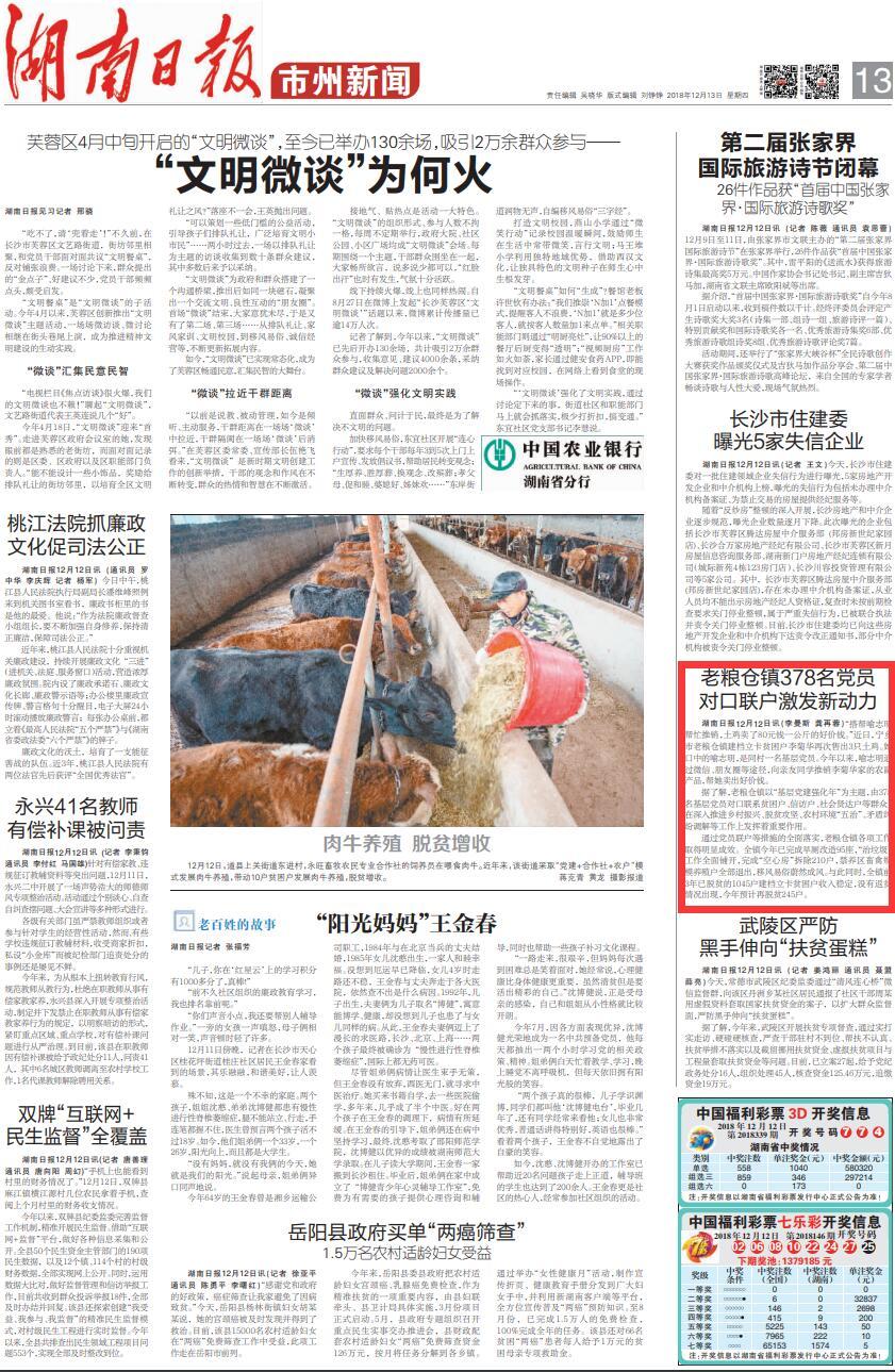 [长沙] 老粮仓镇378名党员对口联户激发新动力