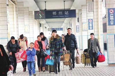 元旦假期郴州火车站增开4趟列车