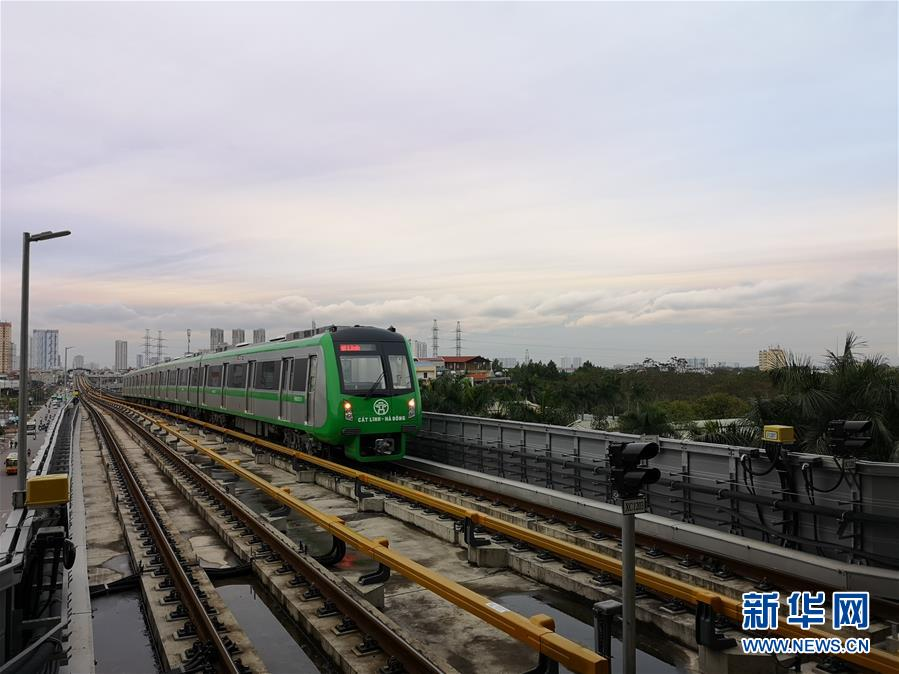 (国际)中企承建越南首条城市轻轨试运行成功