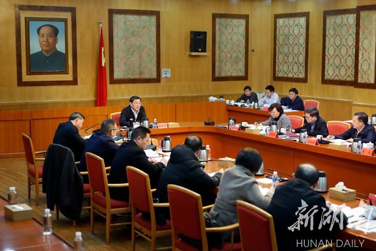 杜家毫主持召开省委常委班子民主生活会征求意见座谈会