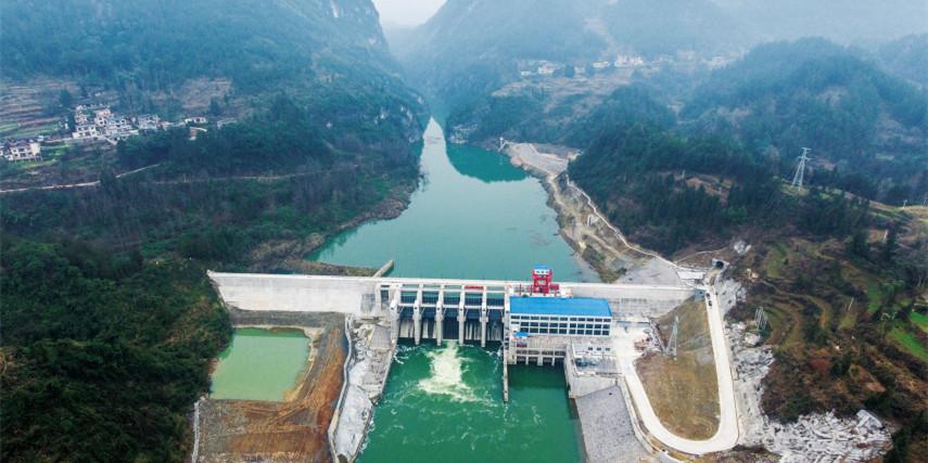 落水洞水电站设备安装完成