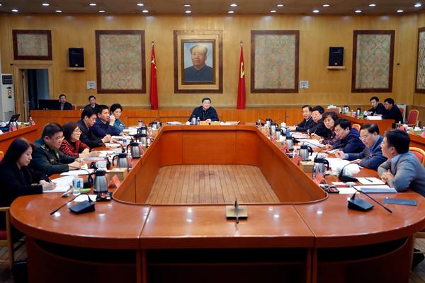 省委常委班子召开2018年度民主生活会,杜家毫主持并讲话