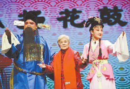 """益阳老中青三代花鼓戏""""八筒牌子""""传承人""""团圆""""在舞台"""