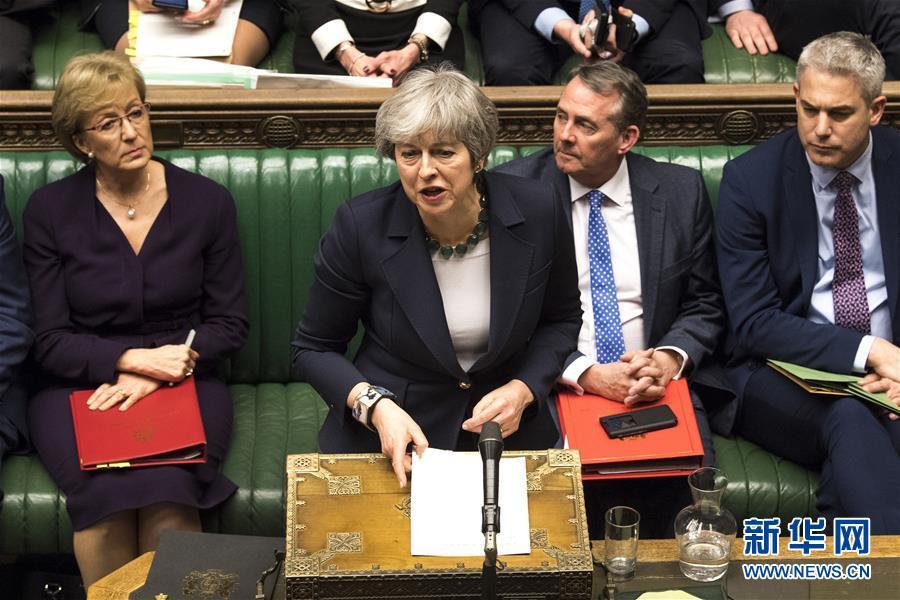 """(国际)(1)英国议会投票反对""""无协议脱欧"""""""