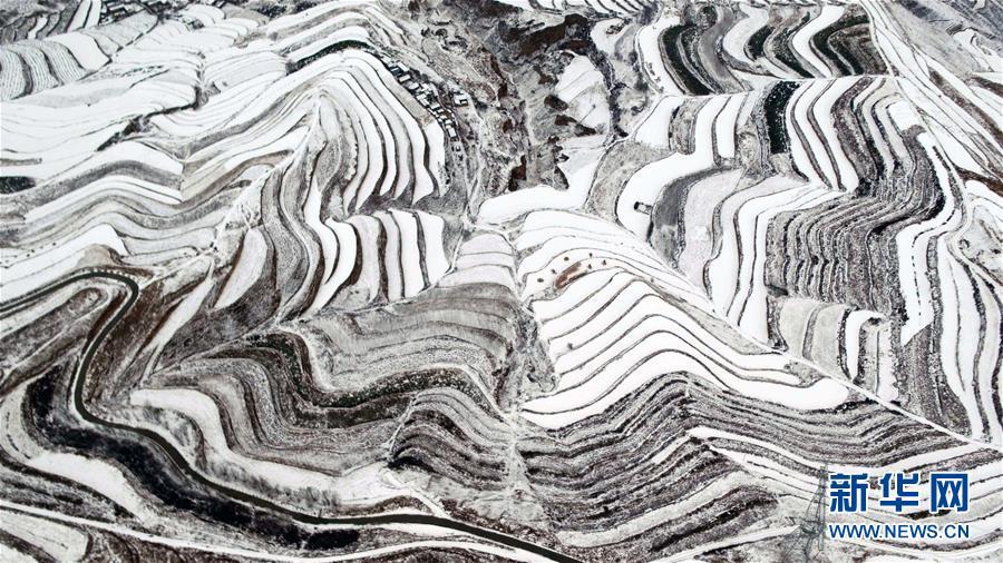 #(美丽中国)(1)甘肃定西:雪景如画