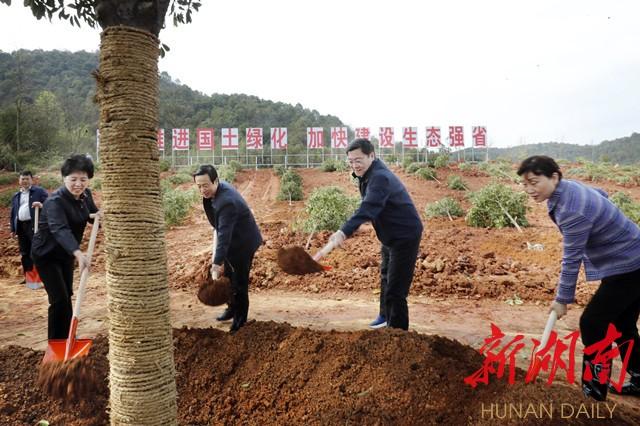 杜家毫许达哲李微微乌兰等省领导参加义务植树活动